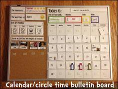 Make at home momma: Morning calendar/circle time bulletin board