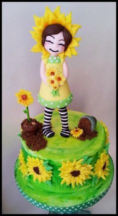 Sunflowers  - Cake by Time for Tiffin