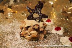 Millefoglie di panettone al cioccolato con mascarpone dessert per natale