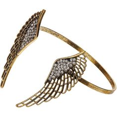 Pretty wings cuff bracelet (395 RUB) ❤ liked on Polyvore featuring jewelry, bracelets, accessories, rings, pulseras, women's jewellery, dorothy perkins, cuff jewelry, cuff bracelet and hinged bracelet
