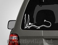 Car Decal 8 Smaug the Dragon Car Decal by PerfectlyAligned