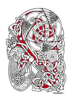Art Of The North. Celtic, Saxon and Viking Tribal Designs — Verkami Heidnisches Tattoo, Pagan Tattoo, Celtic Knot Tattoo, Rune Tattoo, Norse Tattoo, Celtic Tattoos, Viking Tattoos, Celtic Knots, Wiccan Tattoos