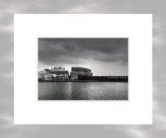 Cleveland Browns Stadium From The Inner Harbor  - 5x7 Matted Cleveland Ohio Art Print by Kenneth Krolikowski - Free Shipping by AcrossTheBoardDesign on Etsy https://www.etsy.com/listing/86585038/cleveland-browns-stadium-from-the-inner