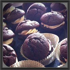 Dark Chocolate Whoopie Pies made from Scratch.