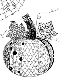 Adult Coloring Page Halloween Pumpkin 5