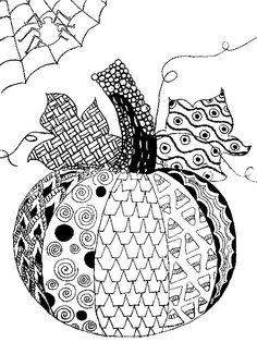 Adult coloring page Halloween : Pumpkin Halloween 5