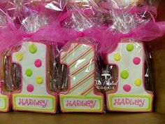 1st Birthday Cookies. I HAVE to do this for my niece's first birthday