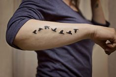 Small Eagle Tattoos for Women | tattoo by p3ace l0ve tumblah 802 The colourful arm rest bird tattoos ...