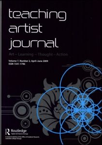 The Teaching Artist Journal is a print quarterly that serves as a voice, forum and resource for teaching artists and all those working at the intersection of art and learning.