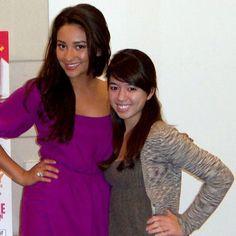 Shay Mitchell with Editorial Asst. Kaitlin!