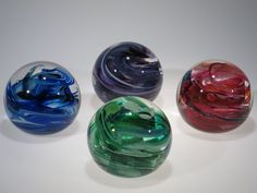 Marble weights by Tom Stoenner Glass. American Made. See the designer's work at the 2015 American Made Show, Washington DC. January 16-19, 2015. americanmadeshow.com #paperweight, #glass, #artglass, #americanmade