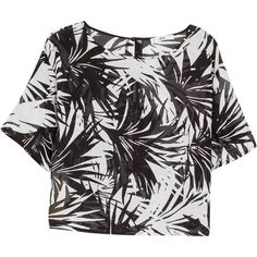 Mango Printed Blouse, Black ($15) ❤ liked on Polyvore featuring tops, blouses, shirts, print shirts, short sleeve blouse, sleeve shirt, shirts & blouses and black cotton blouse