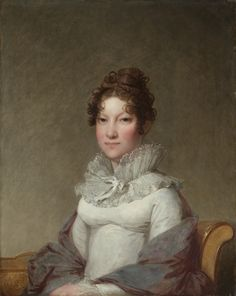 Ruff ties at the front with a ribbon. Gilbert Stuart, Mary Campbell Stuart, c.1815, Cleveland Museum of Art