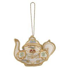 Fortnum and Mason - Fortnum's Teapot Christmas Tree Ornament, Gold