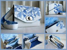 The Emmaline Mini NCW (Mini Necessary Clutch Wallet) in Blue