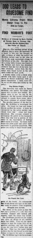 Airedale Terrier Leads to Gruesome Find! Rockingham post-dispatch. volume, December 30, 1919