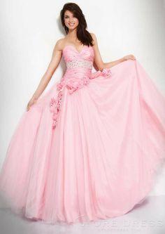 Lovely Ball Gown Sweetheart Beading Evening Dress - Storedress.com on Wanelo