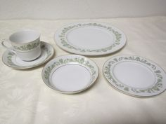 STYLE HOUSE CONTESSA  Fine China  5 piece setting * 10 sets available* dinner plate, bread plate, dessert bowl, cup & saucer * 1960s Japan by mauryscollectibles on Etsy