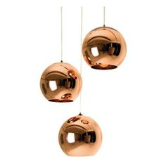 Tom Dixon - Tom Dixon Copper Shade Mini Pendant - 25cm - The Copper collection brings a sculptural sophistication to any interior. Its rich and reflective qualities take on the characteristics of its surroundings.