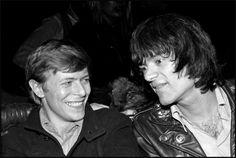 David Bowie and Dee Dee Ramone. Photo by Bobby Grossman