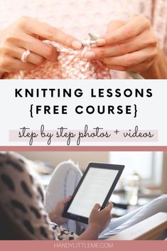 I have put together a list of knitting lessons for beginners, that will show you all of the basics. Including how to: make knit and purl stitches, cast on, cast off, how to increase stitches and decrease stitches, plus many other things! #knitting #beginnerknitting #knittinglessons #knittingtutorial #knittingcourse Magic Loop Knitting, Casting Off Knitting, Cast On Knitting, Knitting Videos, Outlander Knitting, Knit Stitches For Beginners, Beginner Knitting Projects, Knitting Basics, Knitting Charts