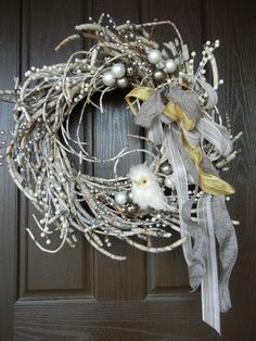 This wreath is not only beautiful for a Christmas decoration but it is perfect for the entire winter season!!!! Love it!!!!