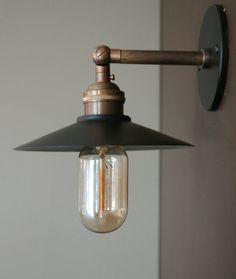 rewire a ship passangerway light | Custom Brass Wall Sconce @ Rewire