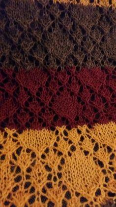 Close up knitted diamond lace