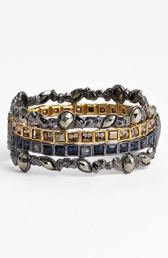 Free shipping and returns on Alexis Bittar 'Elements - Dark Phoenix' Stack Bracelet at Nordstrom.com. Inspired by the inviting textures in knitwear, this architectural bracelet is studded with beautiful semiprecious stones and designed for a prelayered look.