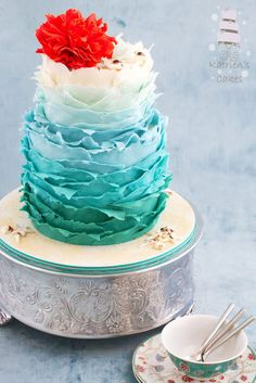 Cake Decorating Making Waves : Wave Cake on Pinterest Surfer Cake, Surfing Cakes and Cakes