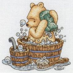 Disney Classic Pooh - Bathtime, cross stitch