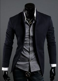 - Business casual wear: Korean style 2013 Men's Mandarin Collar Blazer. I think it is so hot when a guy takes the time to look nice. Source by jarysusan - Fashion Mode, Suit Fashion, Korean Fashion, Mens Fashion, Fashion Outfits, Style Fashion, Fashion Clothes, Sharp Dressed Man, Well Dressed Men