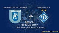 Clubul CS Universitatea Craiova a perfectat și ultimul amical din stagiul de pregătire din Austria. Alb-albaștrii vor înfrunta cea mai importantă echipă din Ucraina, FC Dinamo Kiev. Meciul se va disputa miercuri, 5 iulie 2017, începând cu ora 19:00 (20:00 – ora României). Confruntarea va avea loc în localitatea austriacă Schwaz. Echipa de fotbal din ...