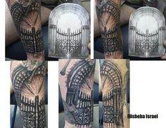 32 Best Pearly Gates Tattoo Designs Images Bulb Design Tattoos Pear