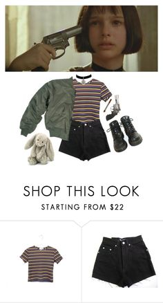 """""""leon"""" by grimess ❤ liked on Polyvore featuring Smith & Wesson, Dr. Martens, women's clothing, women's fashion, women, female, woman, misses, juniors and Inspired"""