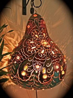 Gourd Lamp Shades - boho decor