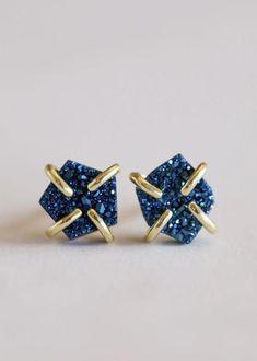Peacock Druzy Prong Stone Bar, Bar Earrings, Stone Cuts, Amethyst Gemstone, Earring Set, 18k Gold, Gemstones, Jewels, Sterling Silver