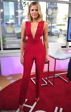 Red hot reality diva: Khloe appears to be in the best shape of her life as she juggles her show Keeping Up With The Kardashians with new series Kocktails With Khloe; here she is seen on Today on Tuesday