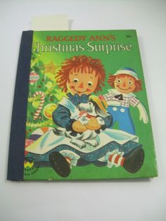 Johnny Gruelle RAGGEDY ANN'S CHRISTMAS SURPRISE 1952 Lovely charming hb ed clean #WonderBooks