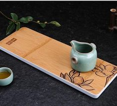 One Piece Bamboo Tea Tray / Board / Saucer 4 Variations Chinese Tea Set, Tea Tray, Spring Green, Bamboo, One Piece, Board, Planks