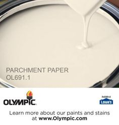 PARCHMENT PAPER OL691.1 is a part of the yellows collection by Olympic® Paint.: