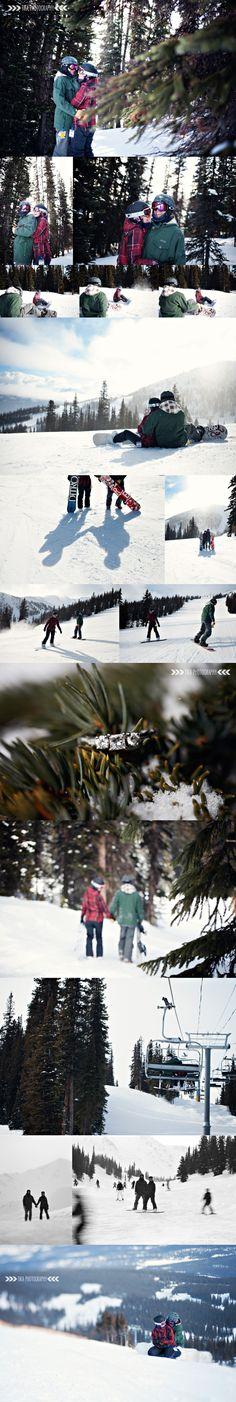 Jasper Marmot Basin snowboarding engagement session by TIKA Photography ~ Sherrie Ellis