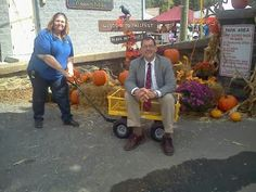 Westminster Maryland Online: Kevin is still on the wagon - here with Graham at entrance Westminster Fallfest http://kevindayhoffwestgov-net.blogspot.com/2013/09/kevin-is-still-on-wagon-here-with.html