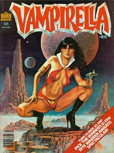 Vampirella, Issue 85 cover: revamped (pun intended) the logo for this one - giving it a chromed, Harleyesque feel.