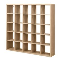 IKEA KALLAX Shelving unit Oak effect 182x182 cm You can use the furniture as a room divider because it looks good from every angle.
