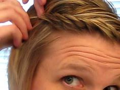 quicker than french braiding bangs to the side.--Um okay, that was easy; definitely doing this.