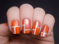 using striping tape to create a pattern. love it!