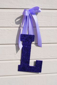"""Bedroom Decor Letters large 13"""" purple glitter wall letters girls bedroom decor 
