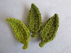 Easy crocheted leaf pattern.