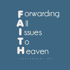 The word of the day: FAITH